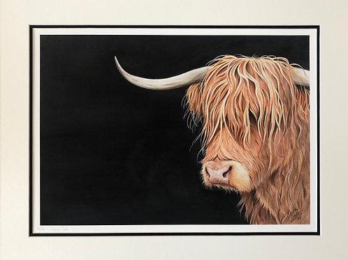 Hairy Moo print