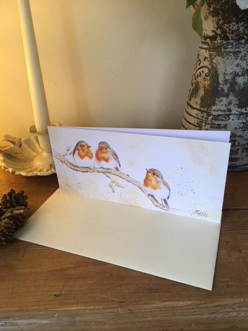 Little Robins greetings card