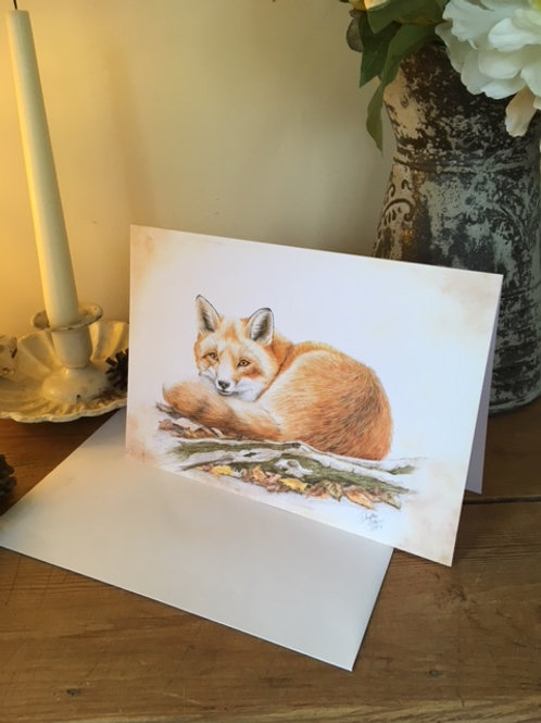 Foxy greetings card