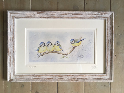 Little Blue Tits framed limited edition print