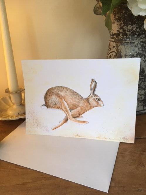 Hartley Hare greetings card