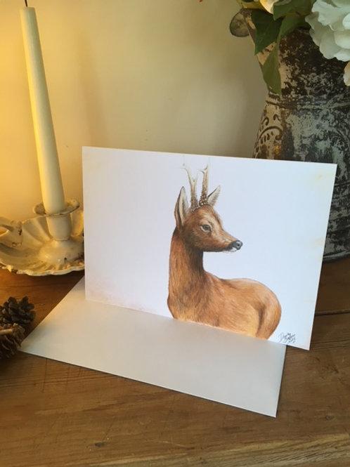 Roe Buck greetings card