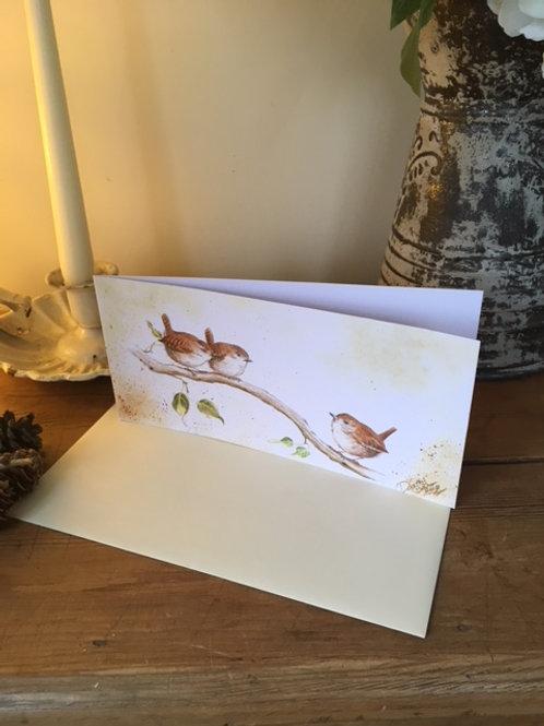 Little Wrens greetings card