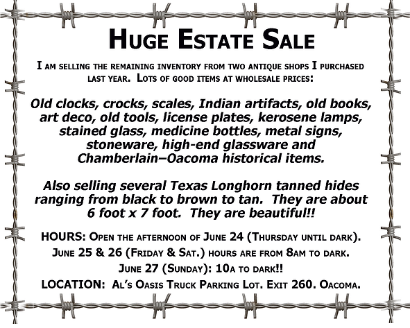 Huge Estate Sale - Oacoma2021.tif