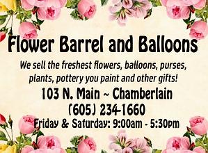 Flower Barrel and Balloons - Chamberlain