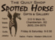 Quilt Shop Spotted Horse - Chamberlain c