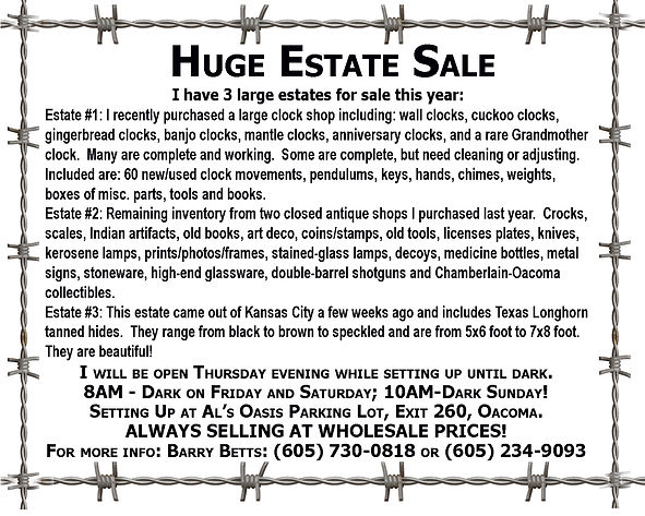 Huge Estate Sale - Oacoma2020.jpg
