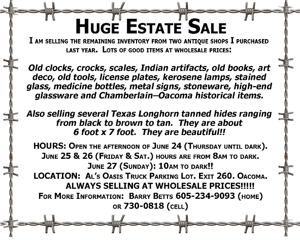 Huge Estate Sale - Oacoma.tif