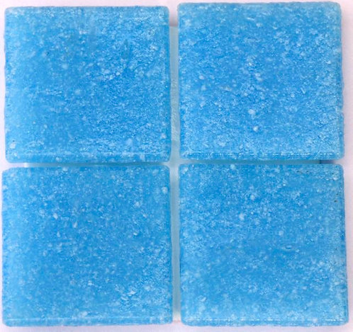 554 Blue lagoon 20mm glass mosaic tile