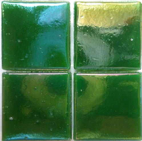 584a Iridescent Rich green 20mm glass mosaic tile