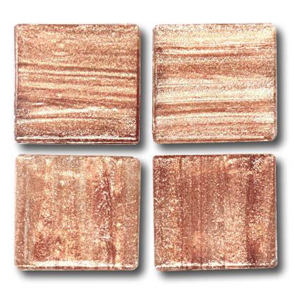 605 Gold vein demerara 20mm glass mosaic tile