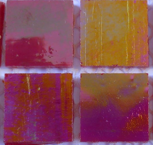 Lustrous Beetroot 20mm glass tile
