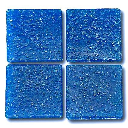 557 Prussian blue 20mm glass mosaic tile