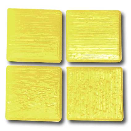 517 Lemon yellow 20mm glass mosaic tile