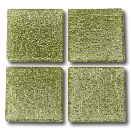537 Pale olive 20mm glass mosaic tile