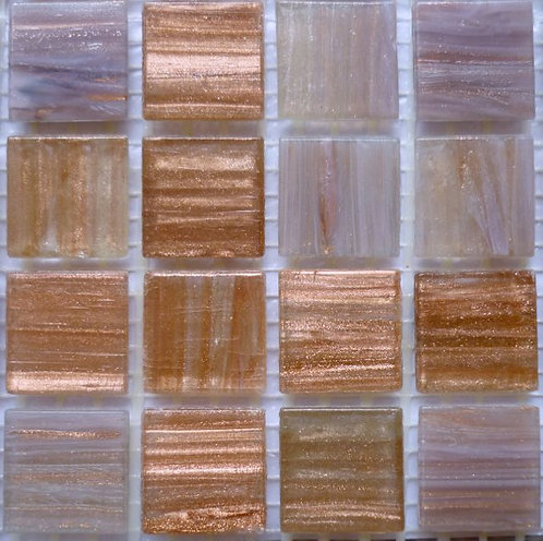 Special offer -20mm golden brown & pale lilac glass tiles - large sheet