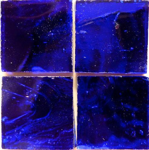 Midnight Blue Wavy mirror 20mm glass tile