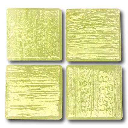 516a Pale lime-yellow 20mm glass mosaic tile