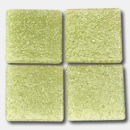 536 Pale yellow-green 20mm glass mosaic tile
