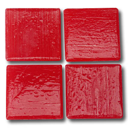 527 Deep red 20mm glass mosaic tile