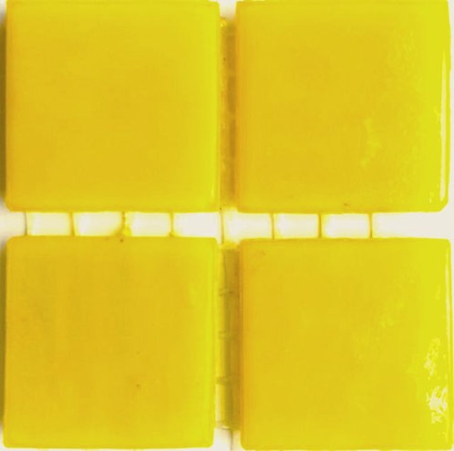 519a Lustrous yellow 20mm glass mosaic tile