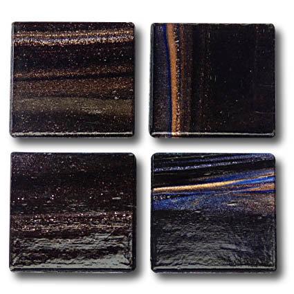 609 Gold vein black 20mm Glass Tile