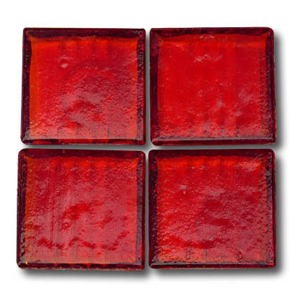 575 Transparent Red 20mm glass mosaic tile
