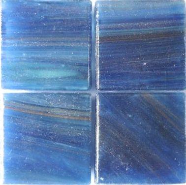 595 Gold vein Moody blue 20mm glass tile