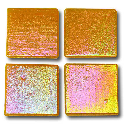 578 Iridescent Apricot 20mm glass mosaic tile