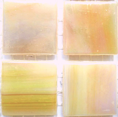 577 Dawn yellow 20mm Iridesent glass mosaic tile