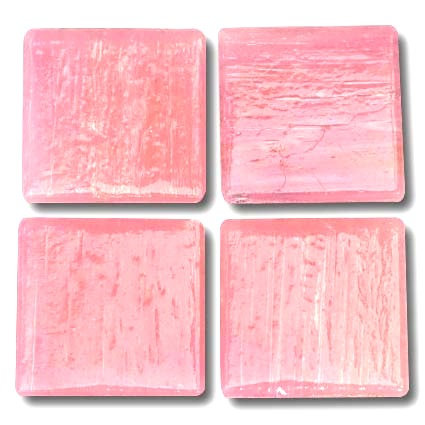 531 Fairy pink 20mm glass mosaic tile