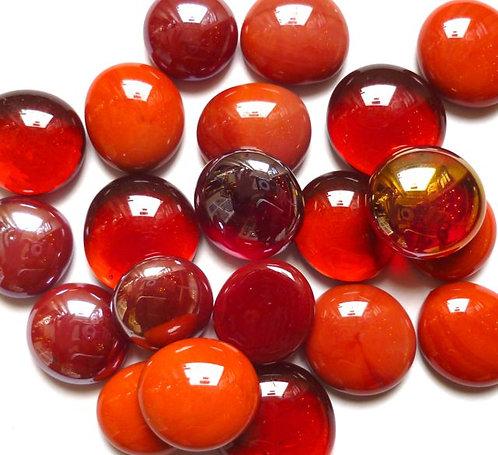 Glass gems - Reds