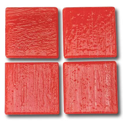 524 Bright red 20mm glass mosaic tile