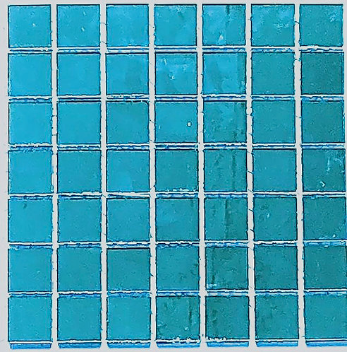 Turquoise mirror tile 20mm
