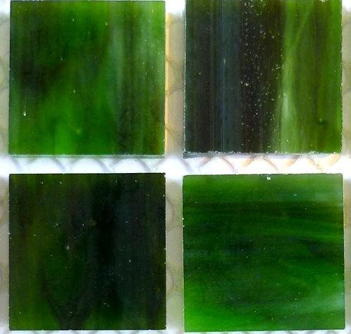 Lustrous Winter Green 20mm glass tile
