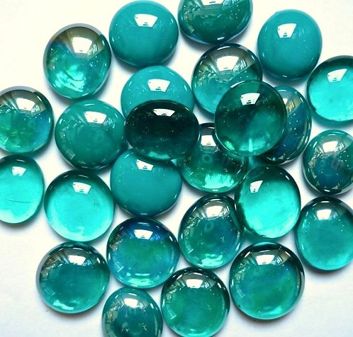Glass gems - Teal