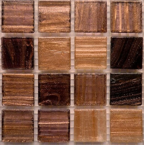 Special offer - Brown & gold 'gold vein' - large sheet