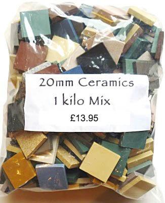 Mixed 20m ceramic tiles 1kg