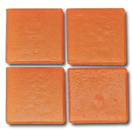 523 Fire orange 20mm glass mosaic tile