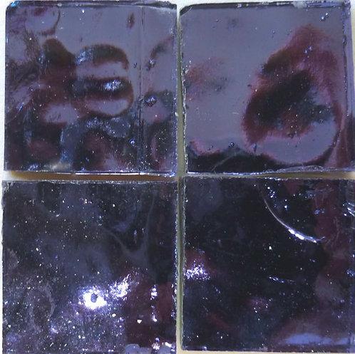 Violet Wavy mirror 20mm glass tile