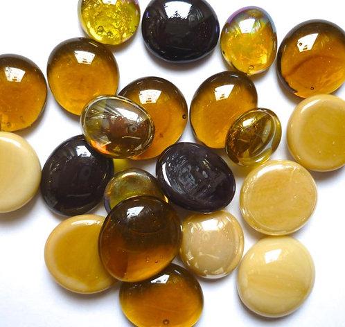 Glass gems - Browns