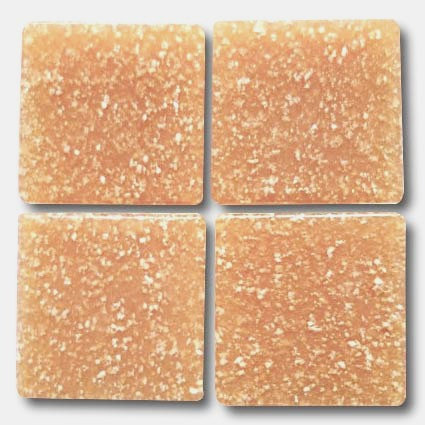 530 Light russet 20mm glass mosaic tile