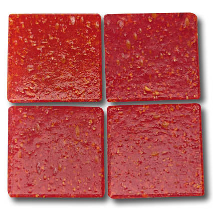 526 Speckled red 20mm glass mosaic tile