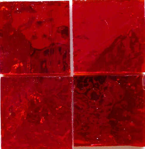 Red Wavy mirror 20mm glass tile