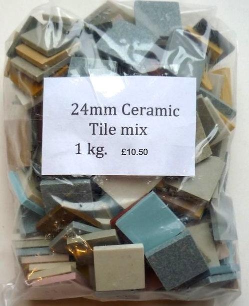 Mixed 24m ceramic tiles 1kg