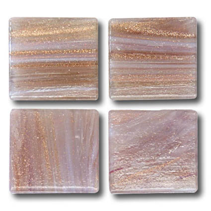 599 Gold vein misty rose 20mm glass mosaic tile