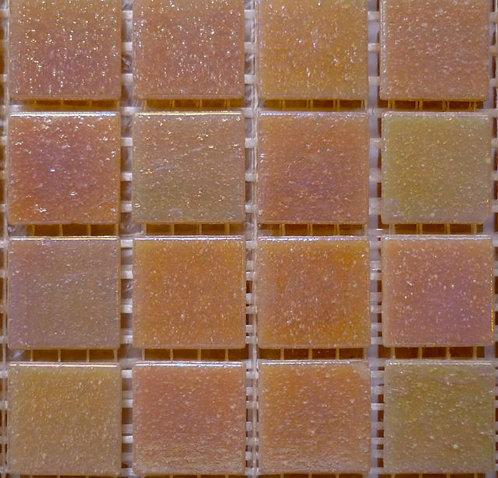 Special; Salmon hues iridescent mosaic.Large sheet