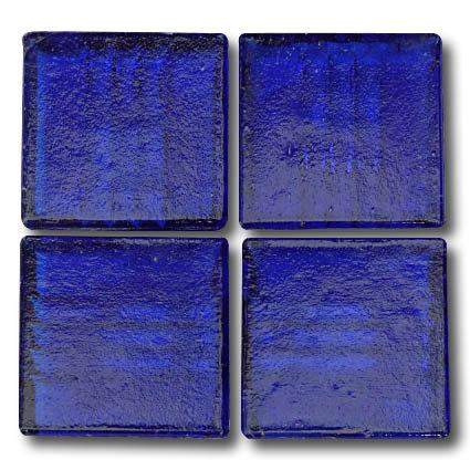 572 Transparent Royal blue 20mm glass mosaic tile