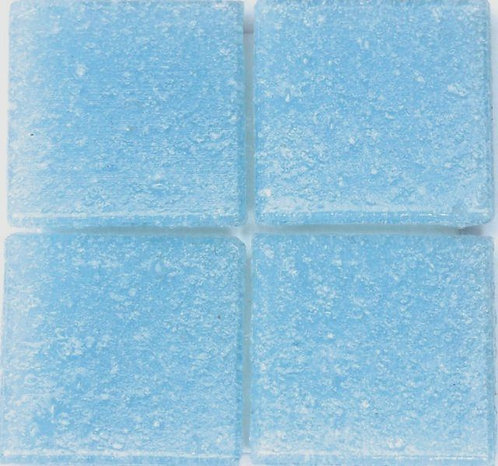 552 Light blue 20mm glass mosaic tile
