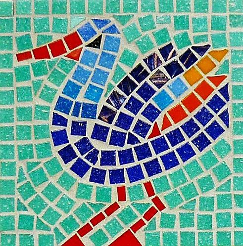 Blue Wonderbird Mosaic Kit